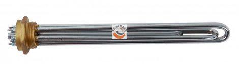 Fűtőbetétek ipari víz-és olaj melegítőkbe - 3x2500 W, 330 x 34 mm, menet: 6/4