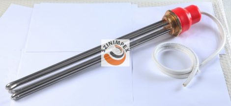 Galván fűtőbetétek ipari víz-és olaj melegítőkbe - 3x2500 W, 350 x 40 mm