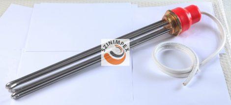 Galván fűtőbetétek ipari víz-és olaj melegítőkbe - 3x3330 W, 450x40 mm