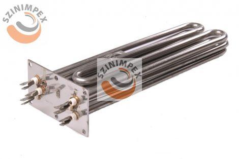 Becsavarható fűtőbetét ipari mosogatógépekhez - 3x3000 W, 230 V, incoloy, 80x280mm