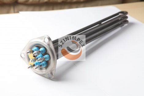 Becsavarható fűtőbetét ipari mosogatógépekhez - 3x1500 W, 300 x 40 mm, anyag: 304