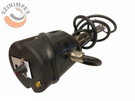 Becsavarható fűtőbetét, L= 320 mm, inaktív szakasz: 100 mm, 2000 W, 230 V, 6/4 menet, IP65 védettséggel, beépített termosztáttal