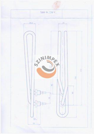 Csőfűtőszál - 3000 W