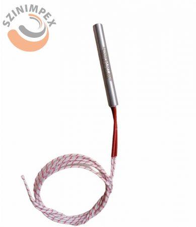 Fűtőpatron, 10x80 mm, 300 W, 230 V, 800 mm kábel