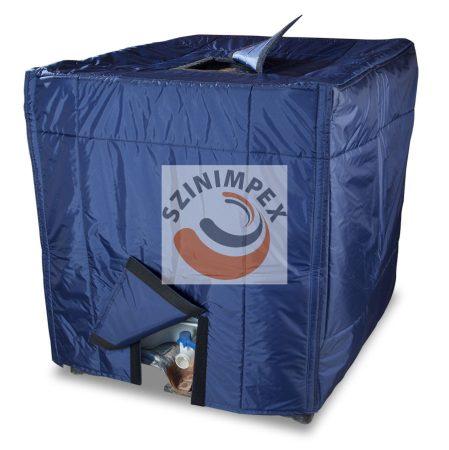 IBC tartály takaró - kék nylon anyagú tartály nyílással