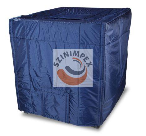 IBC tartály takaró - kék nylon anyagú tartály nyílás nélkül