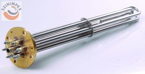 Becsavarható fűtőbetét ipari mosogatógépekhez - 3x2000 W, L:420 mm