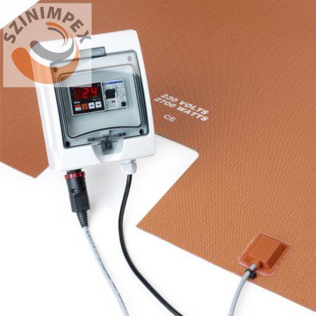 Szilikon fűtőbetét IBC tartályhoz 850x1035 mm, 110V 1800W vagy 230V 2700W,  0-150 °C