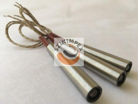 Fűtőpatron, 80x12,5 mm, 230 V, 400 W, vezeték: 250 mm
