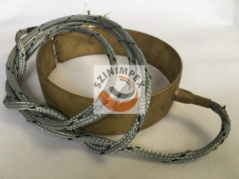 Palást fűtőtest, 156x45 mm, 230 V, 800 W, vezeték: 500 mm, J-típusú szondával, galvanizált fém szövet védőcsővel