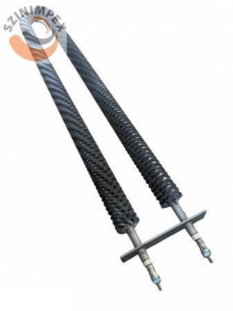 Bordázott csőfűtőszál Ø8,5x25 mm, L= 600/50 mm, M4, 400 V, 1330 W, AISI 304